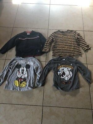 Lot of 8 Toddler Boys Long Sleeve Shirts Size 3T And Sweater