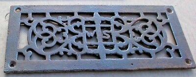 1X Antique Cast Iron Heat Register GRATE-Architectural Salv.5x12 Victorian-FLAT