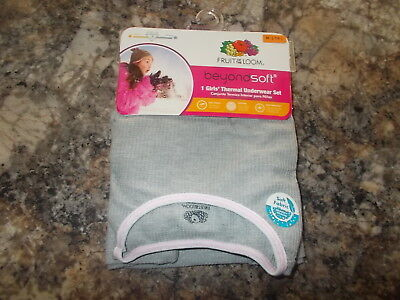 Fruit of the Loom Beyond Soft 2-Piece Thermal Underwear Set Girls Size 6/6X