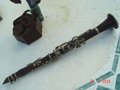 Antique, Early Wooden Eb Clarinet, Made By Oscar Adler