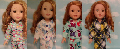 Doll Clothes Pajamas Fits 14.5 inch American Girl Wellie Wishers Doll 250abd