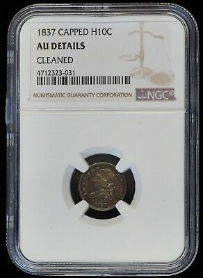 1837 Capped Bust Half Dime (NGC AU Almost Uncirculated Details) US Coin A7408