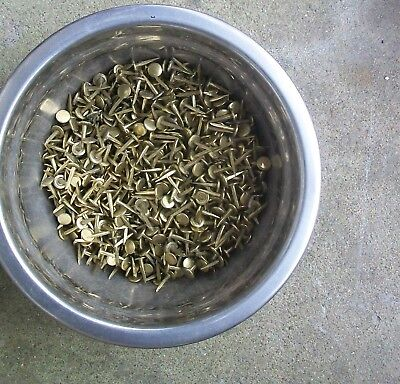Antique Vintage/Old brass tacks 1,200 +- , 3-lbs