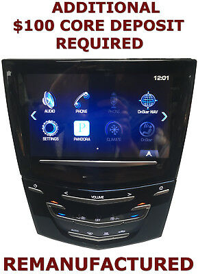 REMAN 2013 - 2018 Cadillac CUE Radio Touch Screen Nav XTS CTS ATS No Heated Seat