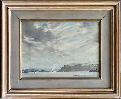 Sidney Woodward Smith (1904-72) Original Oil Painting Sydney Harbour Cabarita