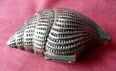 Vintage  Silver Plated Jewellery Box Shell L - 14 cm.