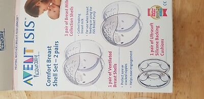 Avent Ultra Comfortable Breast Shell set x 2 And Milk Savers