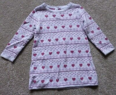 The Little White Company Long Sleeved Knitted Dress Age 9-12 Months