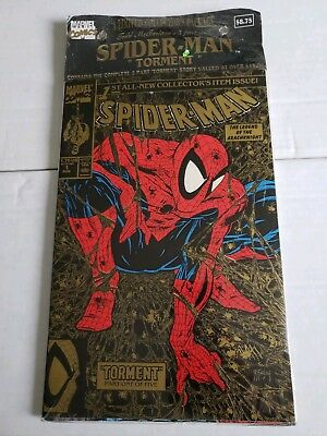 Spider-Man #1-5 Todd McFarlane Gold and Black Variant Cover VERY RARE SEALED!