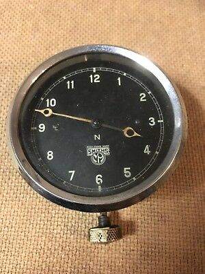 Vintage Mechanical Wind-Up Smiths Car Clock Austin Morris