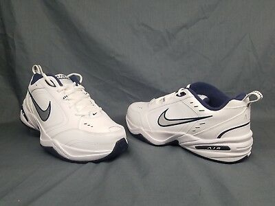 half off 6b1a0 b144b Nike Men s Air Monarch IV Casual Sneakers White Navy Size 8.5 WIDE 4E ...