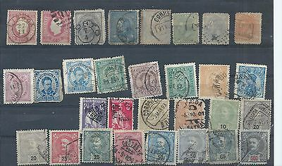 Portugal stamps. Early used lot. Variable condition - 4 or 5 with faults (A212)