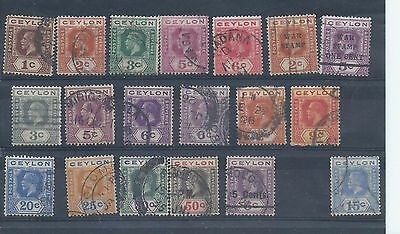 Ceylon stamps. George V used lot.  (Z835)