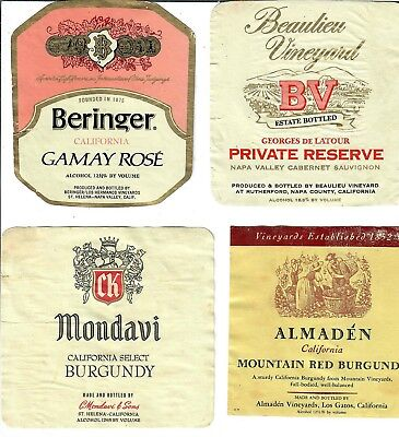 GAL Media Art Design (4 Vintage Wine Labels) #6 100% Seller