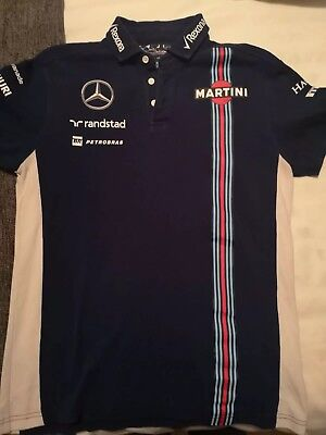 WILLIAMS MARTINI RACING F1 POLO SHIRT MENS SMALL by HACKETT