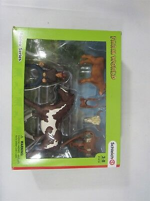 Schleich North America Team Roping with Cowboy Playset missing lasso