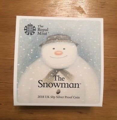 The Royal Mint, 40th Anniversary of The Snowman 2018 UK 50p Silver Proof Coin