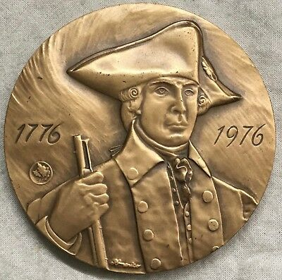 ANS. New York State, American Revolution Bicentennial Medal, 1976 by Giannicchi