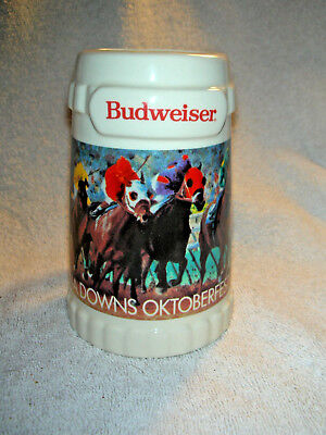 "Budweiser ""special Events"" Stein - Louisiana Downs Oktoberfest Oct. 3-4, 1992"