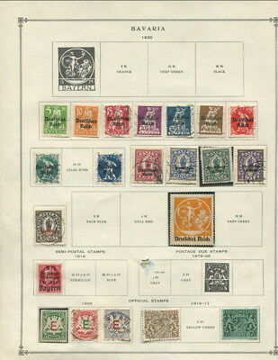 Bavaria / Brazil / Bolivia On Other 'b' Areas Scott Album Pages 1866 To 1940!