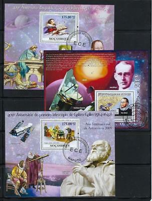 FS9539 3 Diff Souvenir Sheets of Space Astronomers J. Kepler & Galileo Galilei