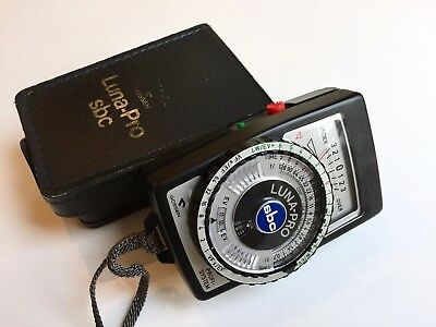 Gossen Luna Pro SBC Meter with Case - Tested and in Excellent Condition