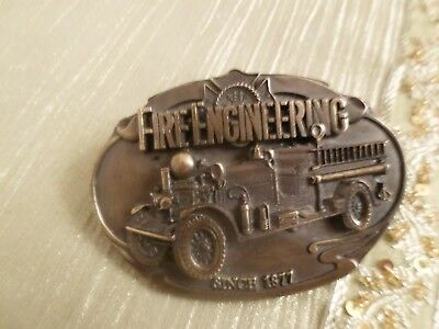 Fire Engineering Special Edition Belt Buckle 1991 # 910297