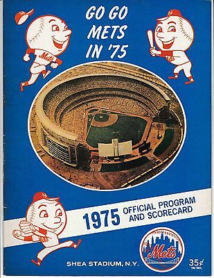 1975 New York Mets Official Program And Scorecard Vs Giants 819c74533