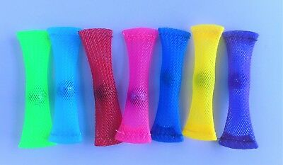 Set of 2 mesh marble fiddle sticks Autism SEN ADHD anxiety fidget pink blue red