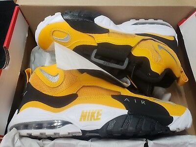 2b20c0c4ac Nike Air Max Speed Turf Yellow Gold White Black Silver Steelers Bv1165 700