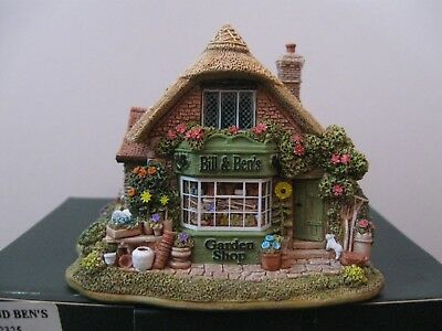 """Lilliput Lane L2325 """"BILL AND BEN'S"""" New - Mint in original box with deed."""