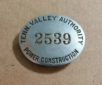 Tennessee Valley Authority,Power Construction,Employee Badge,1930's-40's