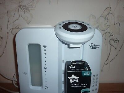 Tommee Tippee Closer to Nature Perfect Prep Machine, White inc NEW Boxed Filter