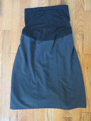 Oh Baby by Motherhood Maternity Dark Gray Skirt Size Small VGUC