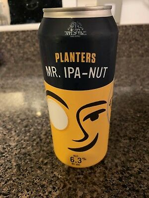 Mr. IPA Nut Planters Empty Can LIMITED EDITION