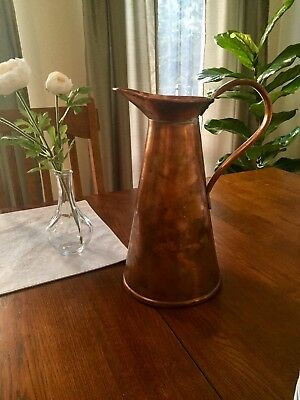 Vintage JS & SB Copper 6 Pint Antique English (Staffordshire) Water Pitcher
