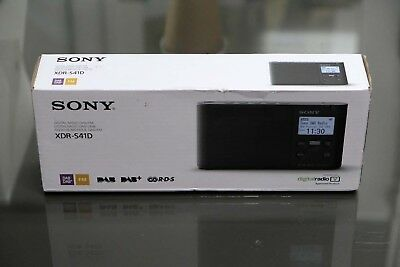 Sony XDR-S41D Black Digital Radio FM DAB DAB+ Brand New in Box