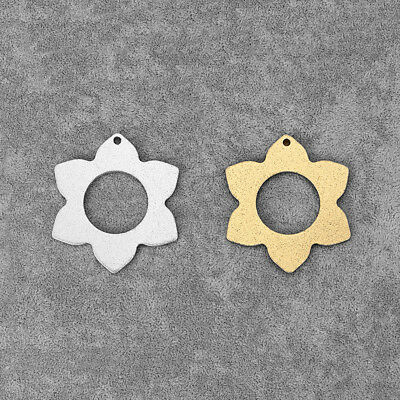 2Pcs Silver/Gold Tone Aluminum Alloy Open Flower Charms Pendants Jewelry Making