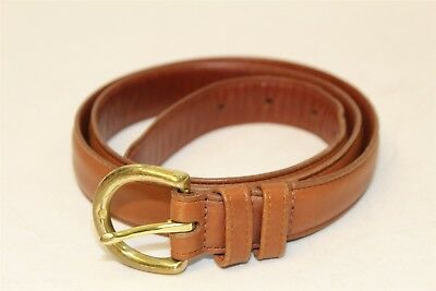 Coach Vintage Womens L Leather Belt W/ Solid Brass Buckle Made in Costa Rica wc