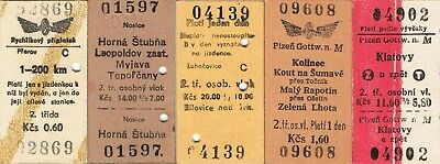 Railway tickets Czechoslovakia CSD various used and unused issues as seen 3