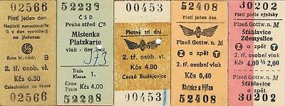 Railway tickets Czechoslovakia CSD various used and unused issues as seen 4