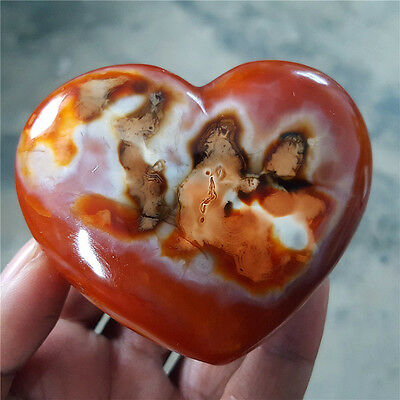 179G    Beautiful natural agate red heart rough stone polishing  Y3162