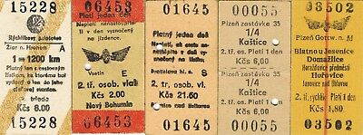 Railway tickets Czechoslovakia CSD various used and unused issues as seen 5