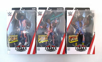 WWE Mattel NEW DAY Figure Set Kofi Xavier Big E Elite Series 60 61 Patriotic Lot