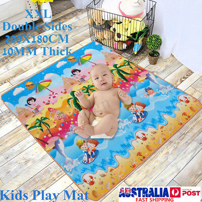 2mx1.8mx1cm XL Thick Baby Kids Play Mat Floor Rug Picnic Cushion Crawling Mat AU