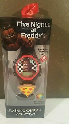 Five Nights at Freddy's LCD Kid's Watch w/ Flashing Dial & Light Up Icon FRE/SHI