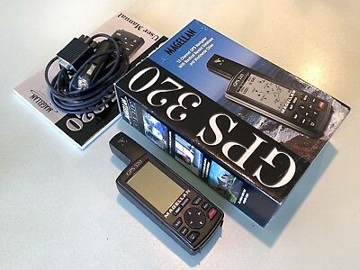 Magellan GPS 320 Handheld GPS With Box. As New!