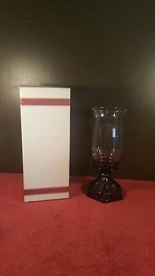 Vintage Avon Ruby Red 1876 Cape Cod Coll. Hurricane Candle Holder Lamp Lantern