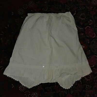Antique Victorian Edwardian Slip Bloomer Pantaloons underwear drawers Pantalette