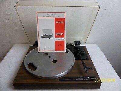 Vintage Realistic LAB-290 Belt Drive Automatic Turntable Original Box and Manual